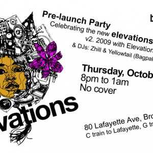 Elevationsradio.com pre-LAUNCH party flyer.