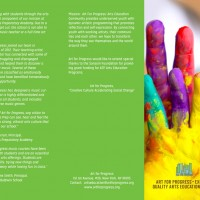 Arts Education Brochure Front