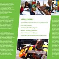Arts Education Brochure Back